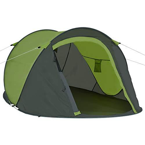 Duhome Pop Up Strandzelt Polyester Grau + Grün blitzschneller Aufbau Zelt Wurfzelt Wetter- und Sichtschutz Farbauswahl…