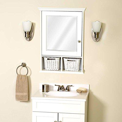Zenith Th22wwbb Medicine Cabinet With Wicker Baskets White Home Garden Bathroom Accessories