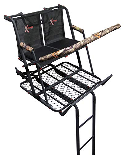 X-Stand Treestands The Jayhawk Ladderstand The Jayhawk 20' Two-Person Ladderstand Hunting Tree Stand, Black from X-Stand Treestands