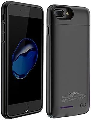 YiYunTE Funda Batería iPhone 7 Plus Case Carcasa Con Batería Cargador-batería Externa Recargable 4300mAh Para iPhone 6 Plus/ 6s Plus/ 7 Plus/ 8 Plus ...