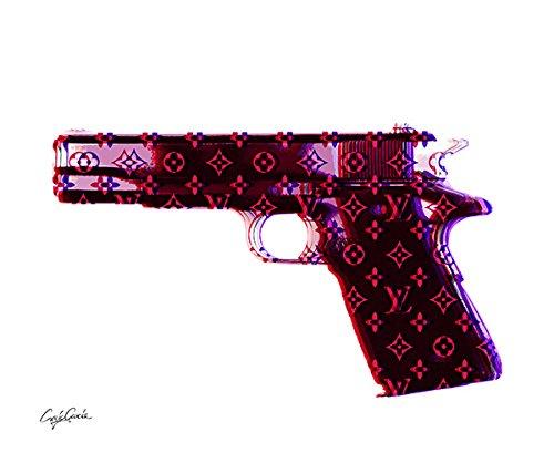 Craig Garcia ルイヴィトン HNDO GUN ポスター A1サイズ (レッド) B01EVUK83I レッド レッド