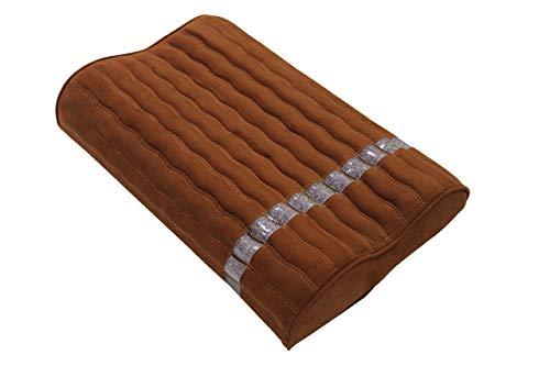 Ereada Far Infrared Amethyst Mat Pillow - High End Negative Ion and FIR Pillow - Jewelry Grade Natural Amethyst Gems - Memory Foam - Luxury Suede (Standard Pillow 19