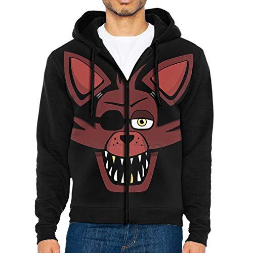 MG5dYkdi56 Full-Zip Men's Hooded Sweatshirt Design Foxy Hoodie Sweaters Pullover Hoody Super Jacket for Men and Women Black