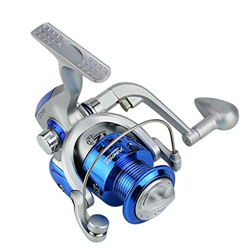 LIZIJIN Fishing Reel Fishing sea Bream Wheel sea Fishing Wheel Reel Rotating Reel Plastic Head Silver Blue Lightweight 5.5:1 Gear Ratio