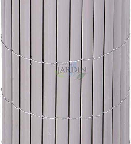 CAÑIZO de OCULTACIÓN PVC gris antracita DOBLE CARA para jardines y terrazas. (1 x 3 m): Amazon.es: Bricolaje y herramientas