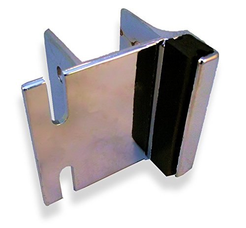 for 1-1//4Square Edge Pilasters Inswing Chrome Plated Zamac Strike /& Keeper for Slide Latch for Restroom Partition Door