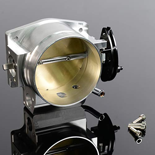 92mm Throttle Body For GM Gen III Ls1 Ls2 Ls6 Ls3 Ls Ls7 Sx Ls 4 Cnc Bolt Cable ()