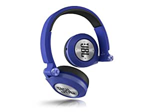 JBL E40 BT - Auriculares supraaurales inalámbricos para dispositivos iOS y Android (estéreo, almohadillados recargables), color azul