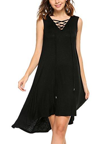Shirt kleid schwarz a linie