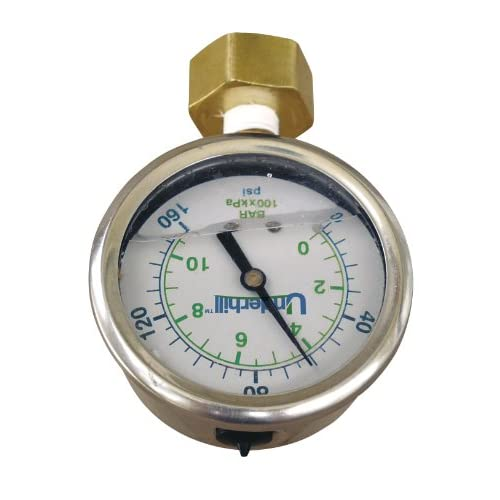 Underhill A-HBG-160K POC Hose Bib with Hose Thread Adapter and Pressure Gauge, 3/4-Inch, 160 PSI