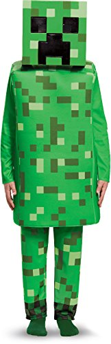 Top 10 Adult Halloween Costumes (Creeper Deluxe Minecraft Costume, Green, Large (10-12))