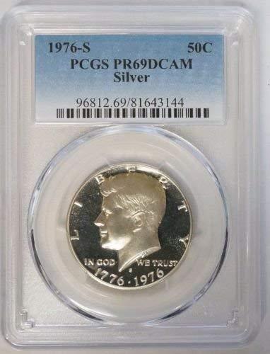 1976 S Bicentennial Silver Kennedy Half Dollar 50c PR69DCAM PCGS