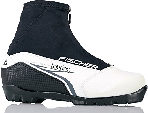 Fischer XC Touring My Style Womens NNN Cross Country Ski Boots - 40/Black-White