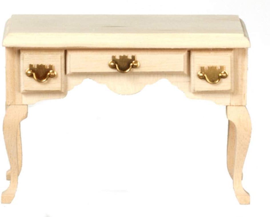 Dolls House Mahogany Writing Desk Secretary Table Miniature 1:12 Study Furniture