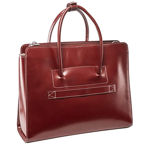 McKleinUSA LAKE FOREST 94336 Red Leather Women's Case w/Removable Sleeve