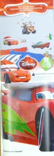 Disney Character Christmas Holiday Peel & Stick Wall Decorations (CARS)