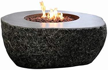 Elementi Concrete Fiery Rock Fire Pit – Propane
