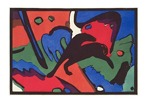 (Spiffing Prints Wassily Kandinsky - The Blue Rider - Large - Matte - Framed)