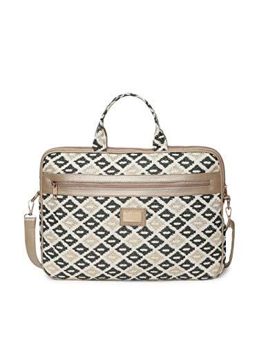KLEIO Jaquard Laptop Handbag for Office Women Girls(HO3004KL-AU_Gold)