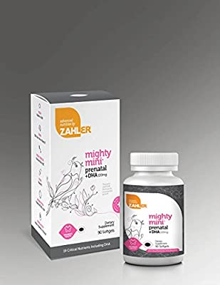 Zahler Mighty Mini Prenatal DHA, One a day complete Premium Multivitamin supplement for Mother and Child, Prenatal with DHA vitamin supports brain development in babies, Certified Kosher