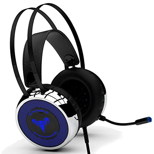 [Upgraded 2020] Professional Gaming Headset IMBA V8 with 50MM High-End Dynamic | Comfy Earmuffs, LED, Adjustable Microphone, Mute & Volume Control for Xbox 360, One, S, PS3, PS4, PC, Nintendo, Laptop