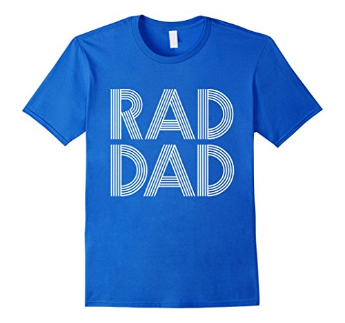 Mens Fathers Day Gift T Shirt   Rad Dad   Gift For Daddy Large Royal Blue