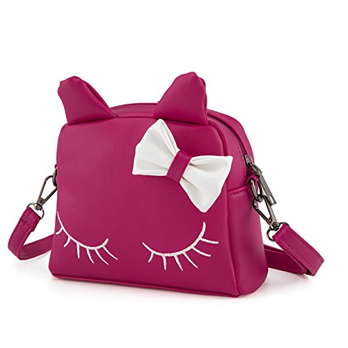 Pinky Family Cute Cat Ear Kids Handbags PU Leather Crossbody Bags and  Backpacks (Rosy) b734e67b24748