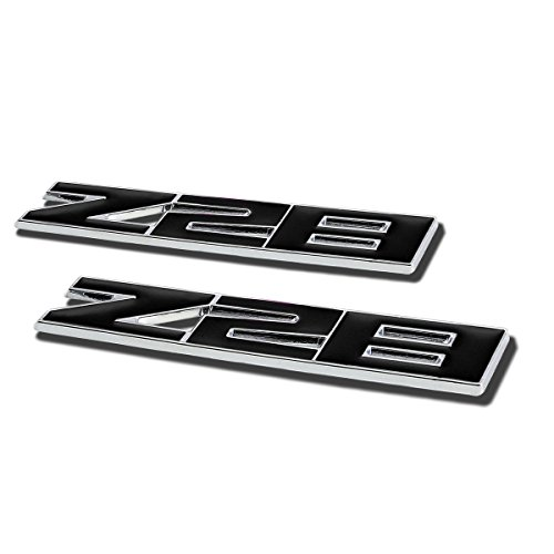 (DNA Motoring EM-L-Z28-BK Emblem Decal Sticker (Pack of 2))