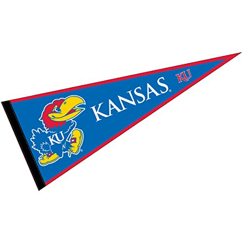 ffbb8f304fd College Flags and Banners Co. Kansas Jayhawks Pennant Full Size Felt ...