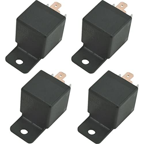 American Volt 4-pack Automotive 60 Amp Relay 5 Pin Socket Fan Headlight Switch 60a Wire Relays for cheap