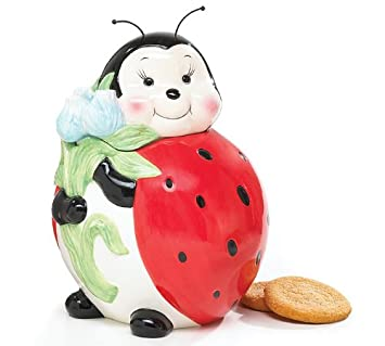 Adorable Ladybug Cookie Jar Food Storage For Kitchen Decor And Collections
