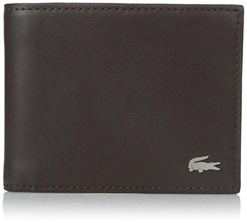 Lacoste Men's FG Small Billfold ID Slot, Dark Brown, One Size