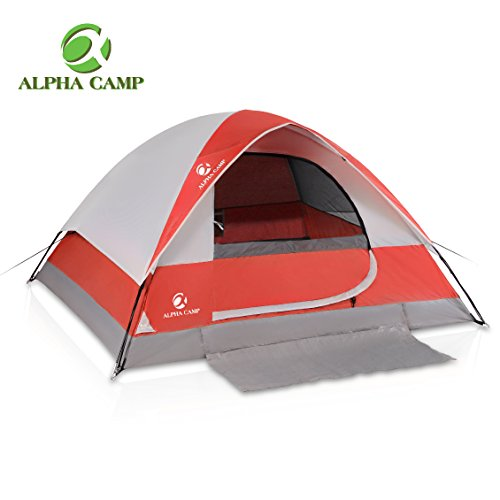 Pressure Port No (ALPHA CAMP 4 Person Camping Tent with Mud Mat - Dome Design 9' x 7' Red)