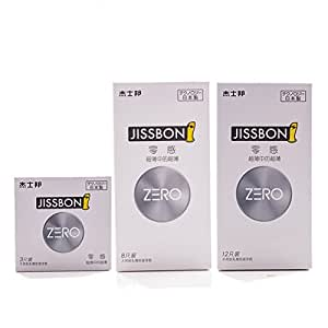 JISSBON ZERO Condom Sense Ultra-thin in Ultra-thin Condoms More Lubricant Condom Intimate Products Adults Sex Toys for Men Delay(23pcs)