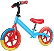 Balance Bike for Kids, JFIEEI 12 Inch Balance Bike Toddler with No Pedal, Inflation-Free Tyres Adjustable Seat