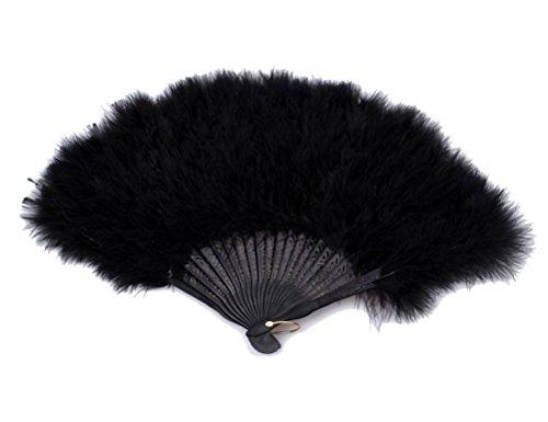 Charm.L Grace 20s Vintage Feather Fan Flapper Dance Roaring Gatsby Burlesque]()