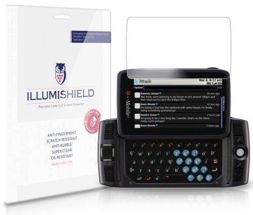 iLLumiShield Screen Protector Compatible with Sharp Sidekick LX (2009,T-Mobile)(3-Pack) Clear HD Shield Anti-Bubble and Anti-Fingerprint PET - Sidekick Lx Sharp