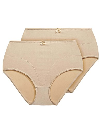 Exquisite Form Women's Plus-Size Medium Control Shaper Brief Panty(Pack of 2) #51070402A