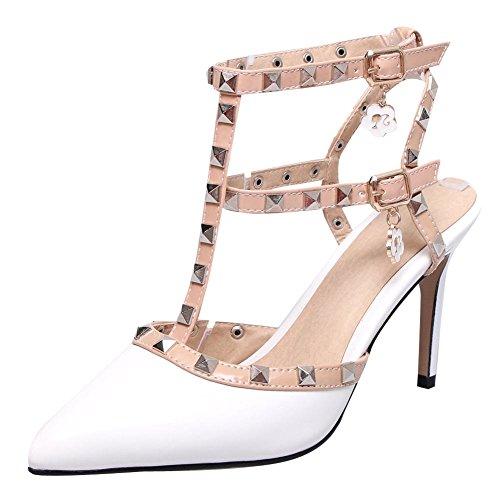 Mee Shoes Damen Stiletto mit Nieten Slip on Pumps