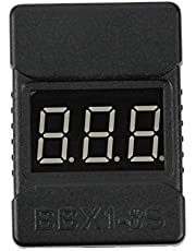 QWinOut Newest BX100 1-8S Lipo Battery Voltage Tester/Low Voltage Buzzer Alarm / /Battery Voltage Checker with Dual Speakers