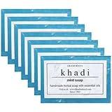 Khadi Handmade Pure Mint Soap - Pack of 7 (875 g)