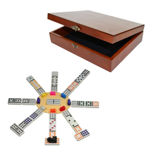 WE Games Deluxe Mexican Dominoes in Old-Style Wooden Box by WE Games