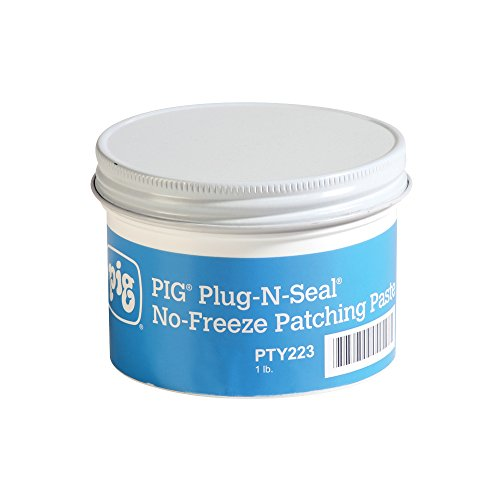 New Pig Plug-N-Seal No-Freeze Patching Paste, 1 lb Container, Temporarily Stop Leaks in Cold Temperatures, for Fuel Tanks, Steel Drums & Containers, Gray/Green, PTY223