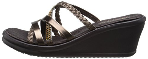 Skechers Cali Women's Rumbers-Wild Child Wedge Sandal,Bronze Rhinestone,9 M US by Skechers (Image #5)