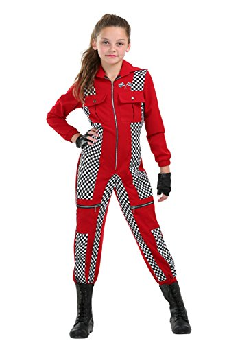 Racer Jumpsuit Girls Costume -