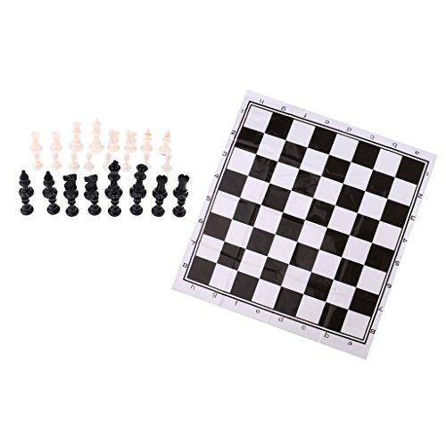 Baoblaze ポータブル プラスチック 国際チェスゲームセット チェス