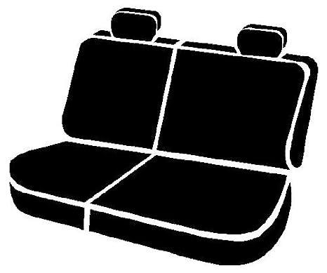 Fia SP82-20 BLACK Custom Fit Rear Seat Cover Split Cushion 60//40 Poly-Cotton, Black