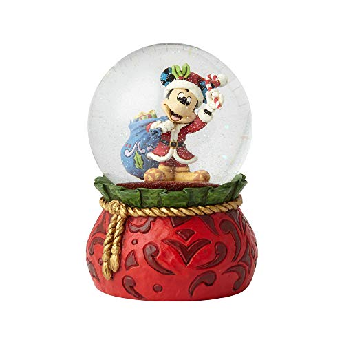 Enesco Disney Traditions by Jim Shore Santa Mickey Waterball 5.625
