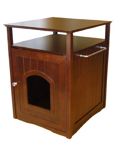 Merry Pet Cat Washroom/Night Stand Pet House, One size, Walnut - MPS008 ()