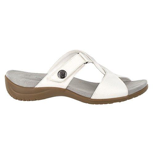 Easy Street Womens Spark Flat Sandal White QRSO6